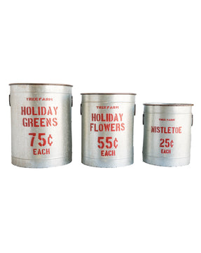 Holiday Greens Buckets