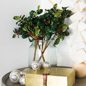 Faux Holly Stem