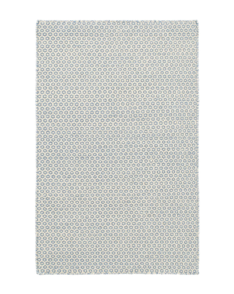 Honeycomb French Blue Wool Rug Swatch