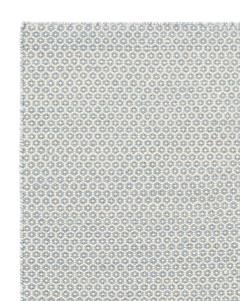 Honeycomb French Blue Wool Rug