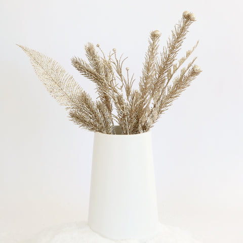 Champagne Glitter Branches (Set of 8)