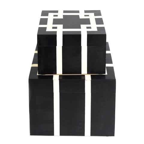Black & White Square Boxes