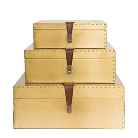 Brass and Leather Boxes