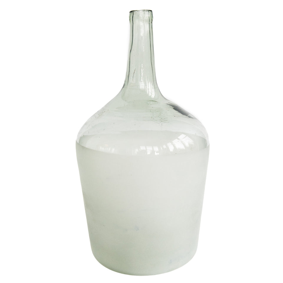 Found Frosted Glass Vases