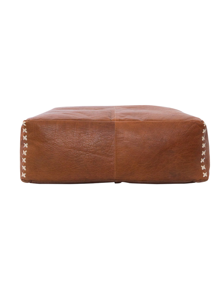 Jackie Leather Pouf