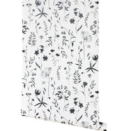 Juno Floral in White Wallpaper