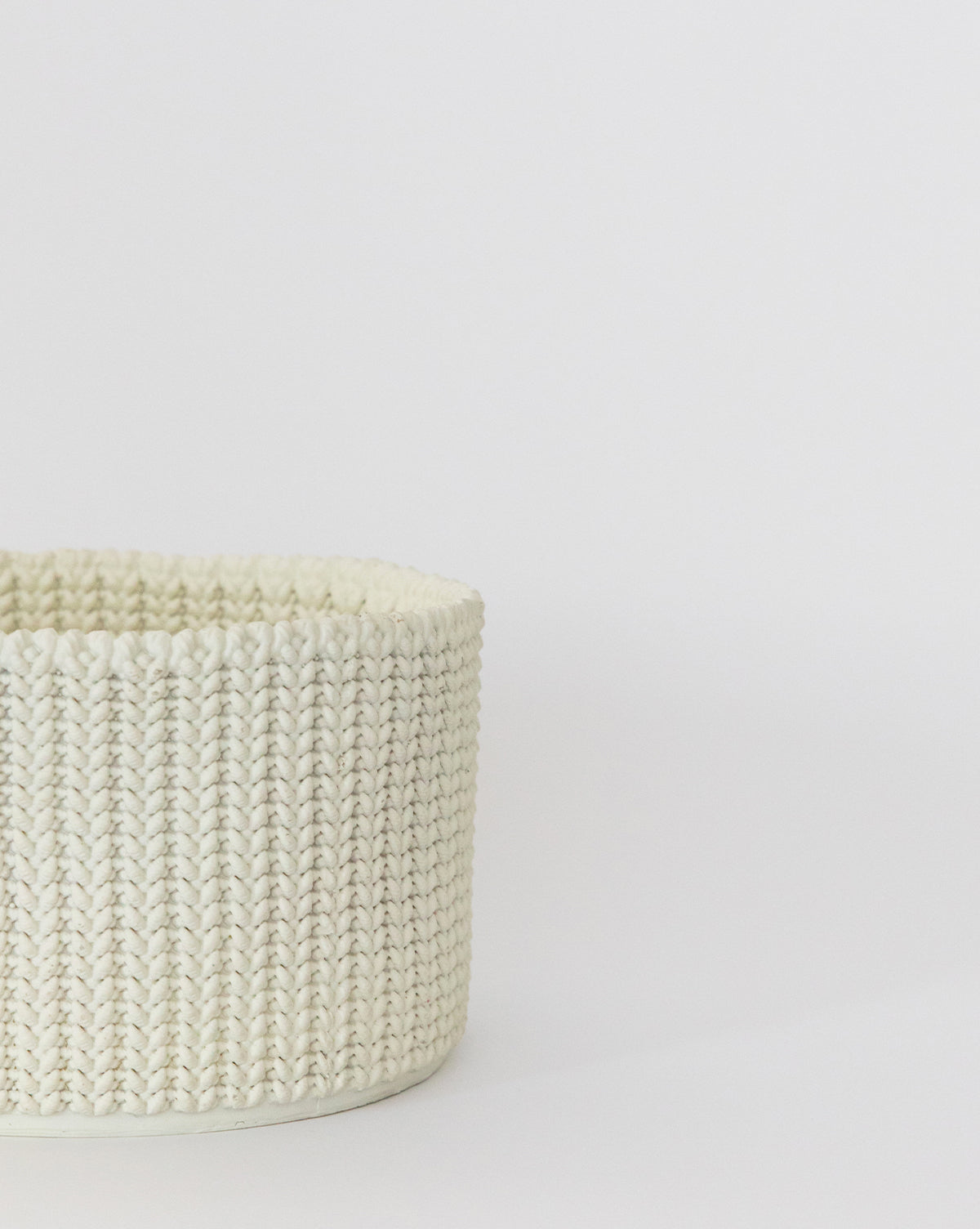 Knitted Sweater Stone Basket