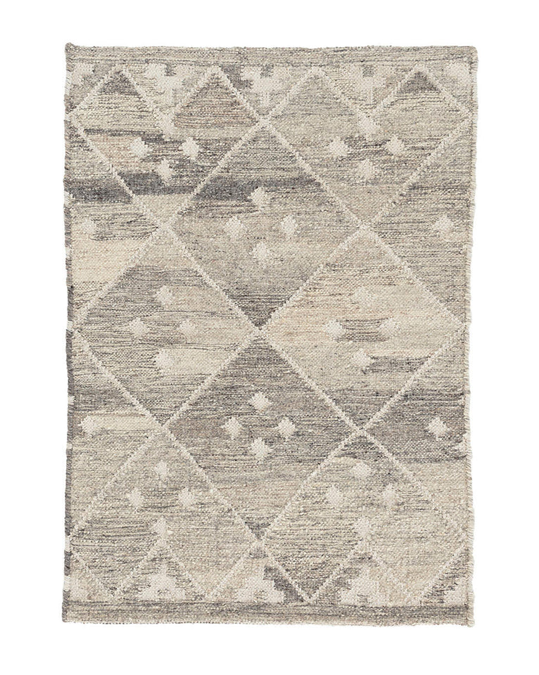 Kota Natural Wool Rug Swatch