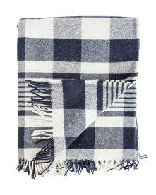 La Laine Throw in Navy