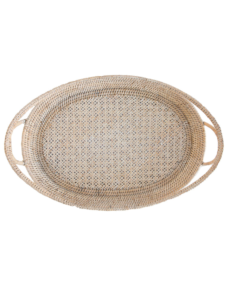Lace Woven Rattan Tray