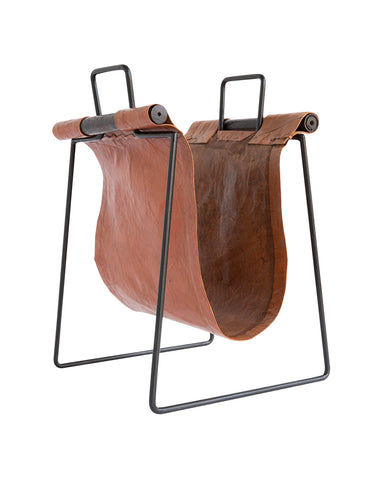 Leather Sling Magazine Stand