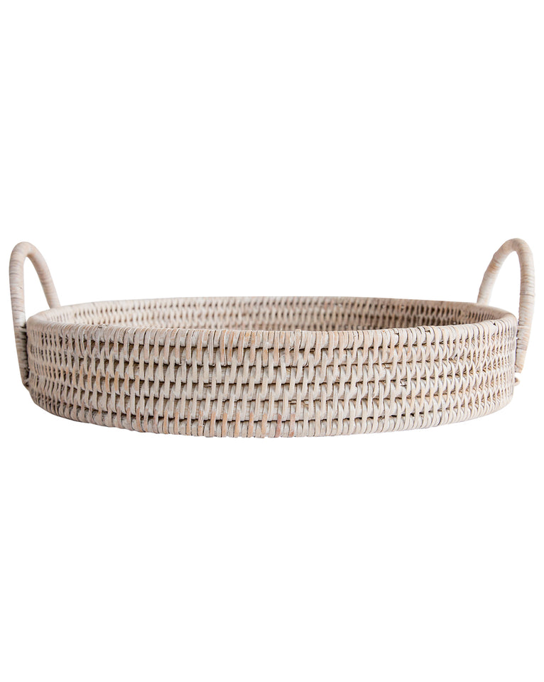 Light Rattan Round Tray (Set of 2)