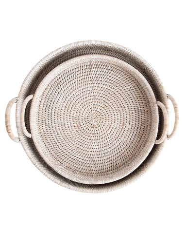 Rattan Round Trays (Set of 2)