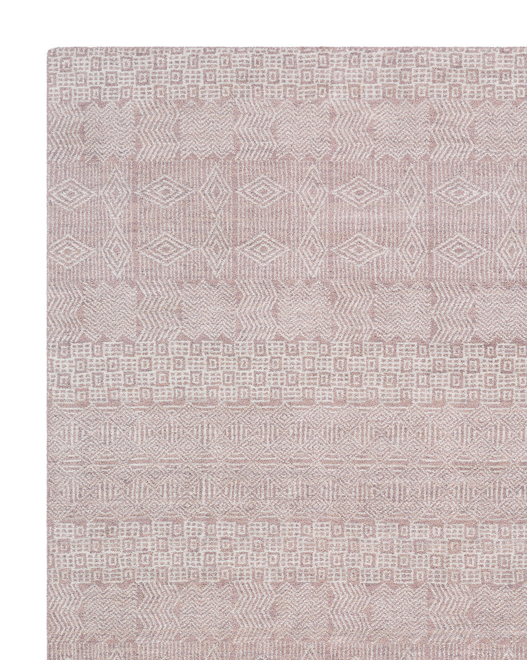 Lucerne Rose Hand-Knotted Rug Swatch