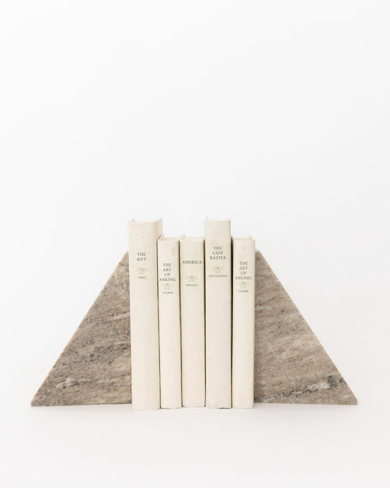 Marble Pyramid Bookends