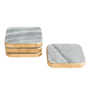 Marble & Gold Coasters (Set of 4)