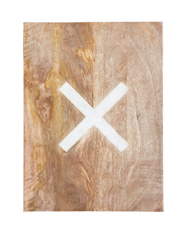 Marble X Cutting Board