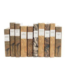 Marbled Paper Books (Set of 5)