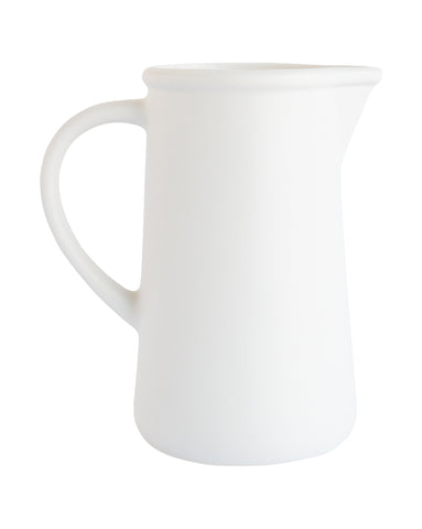 Matte Cream Pitcher