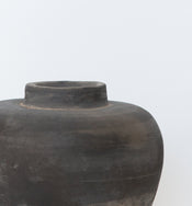 Matte Gray Tapered Jar