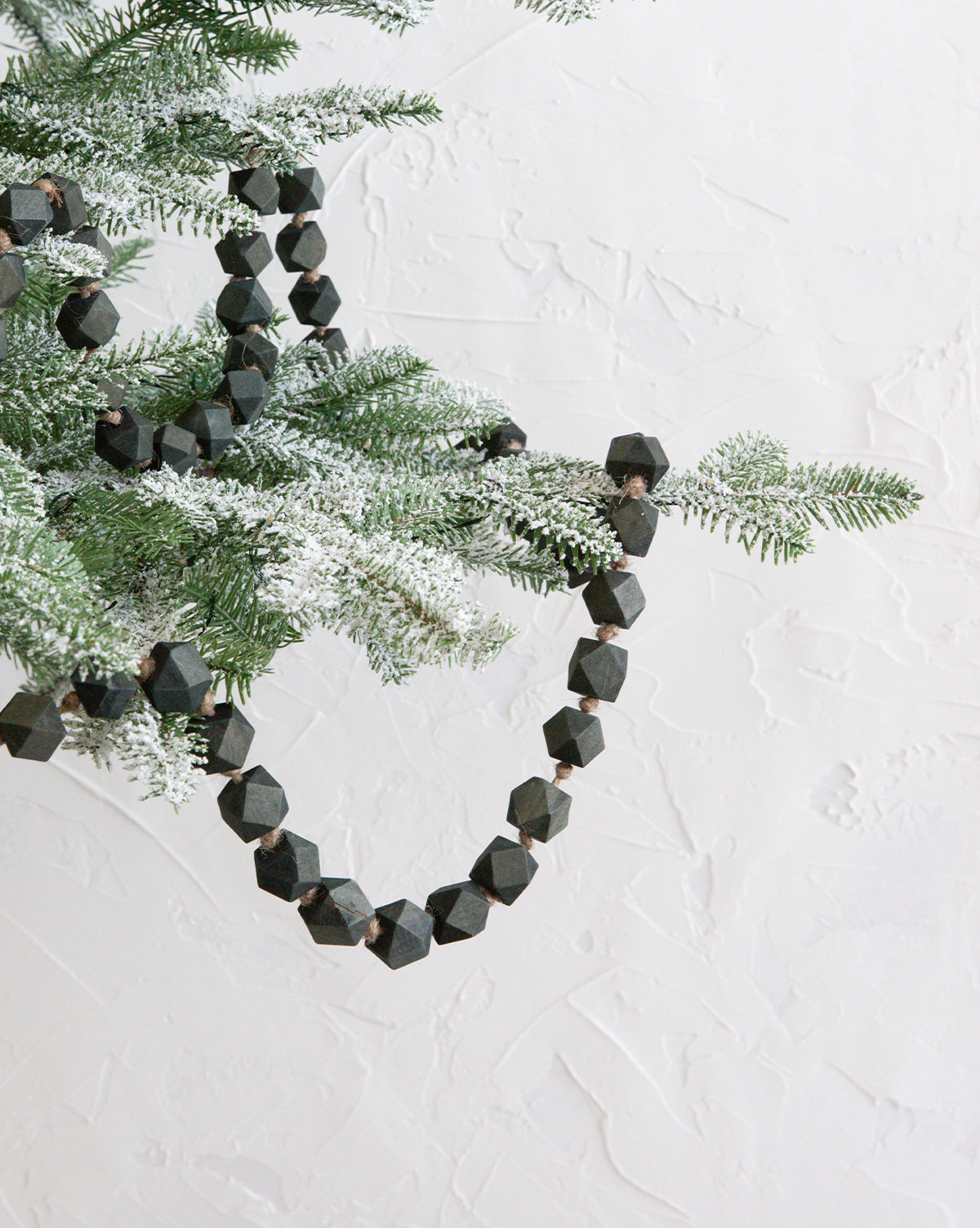 Emerald Wood Beaded Garland
