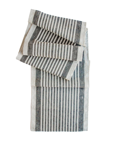 Montauk Table Runner in Charcoal
