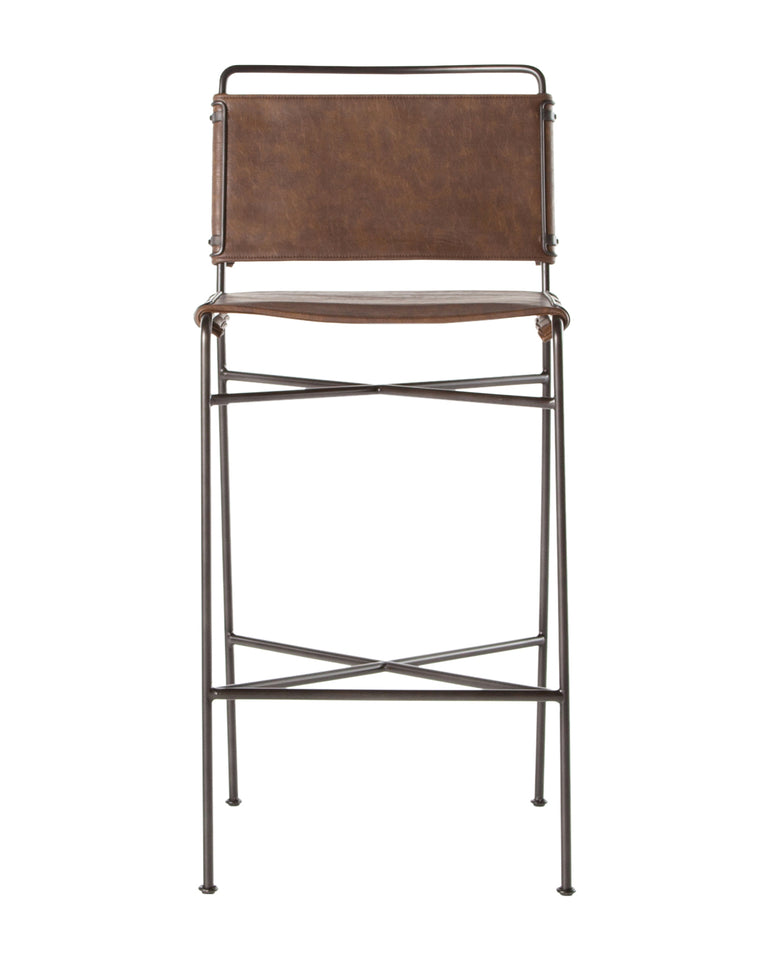 Moore Bar + Counter Stool in Gray
