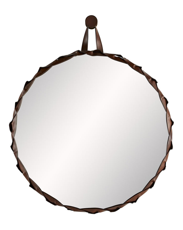 Morisot Leather Mirror