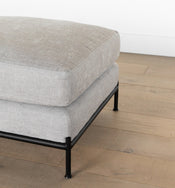 Morrison Metal Base Leather Ottoman
