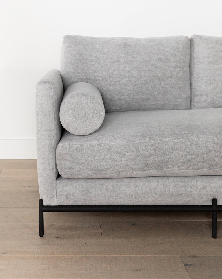 Morrison Metal Base Leather Sofa