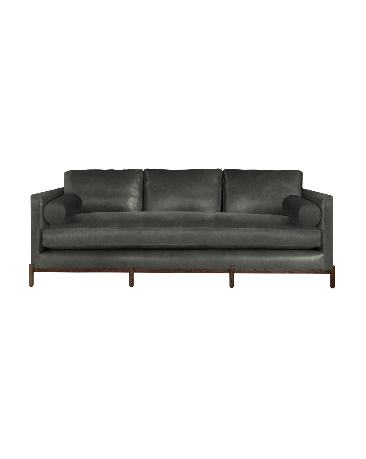 Morrison Wood Base Leather Sofa