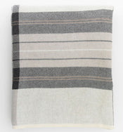 Ivory & Gray Plaid Throw