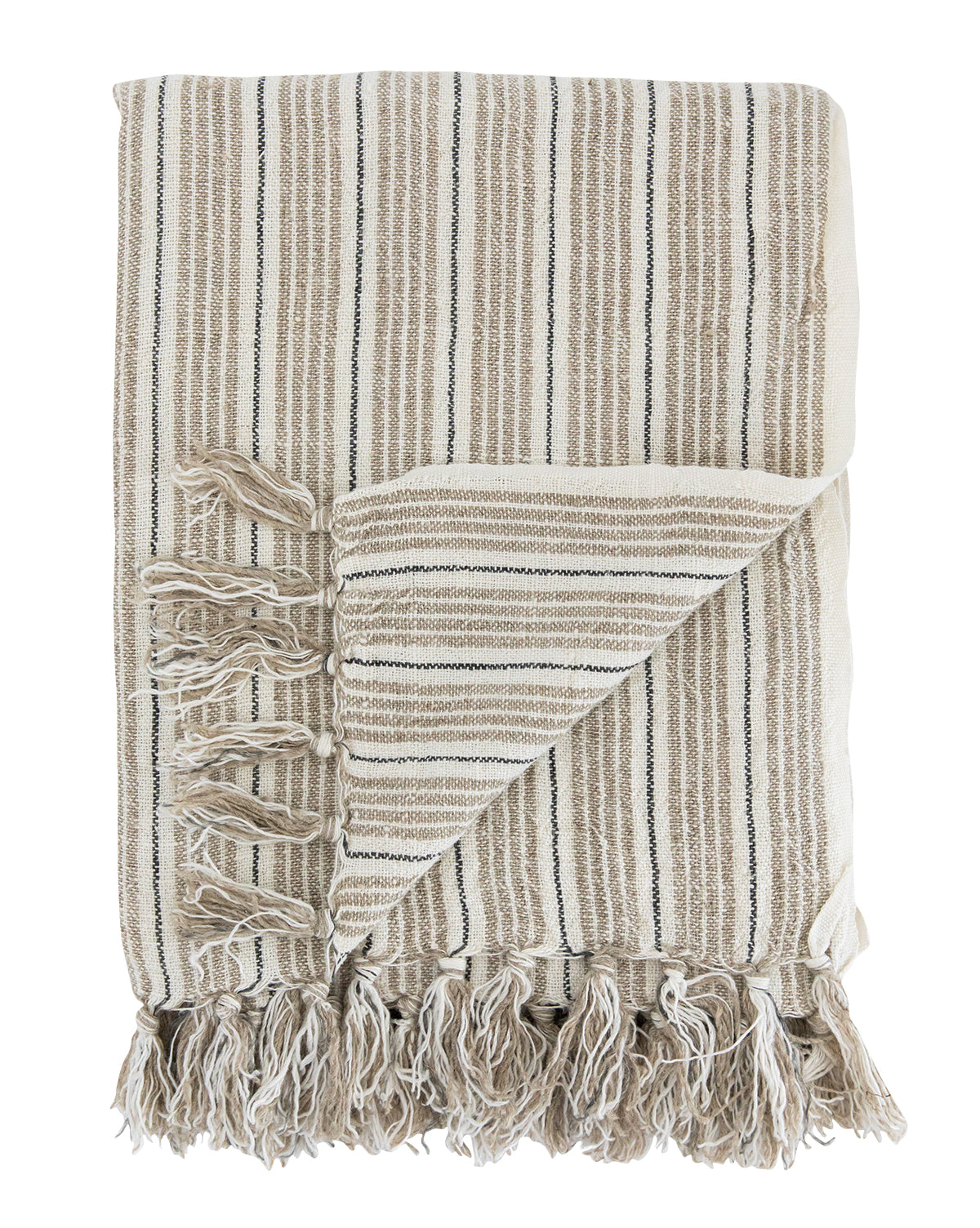 Neutral Stripe Throw