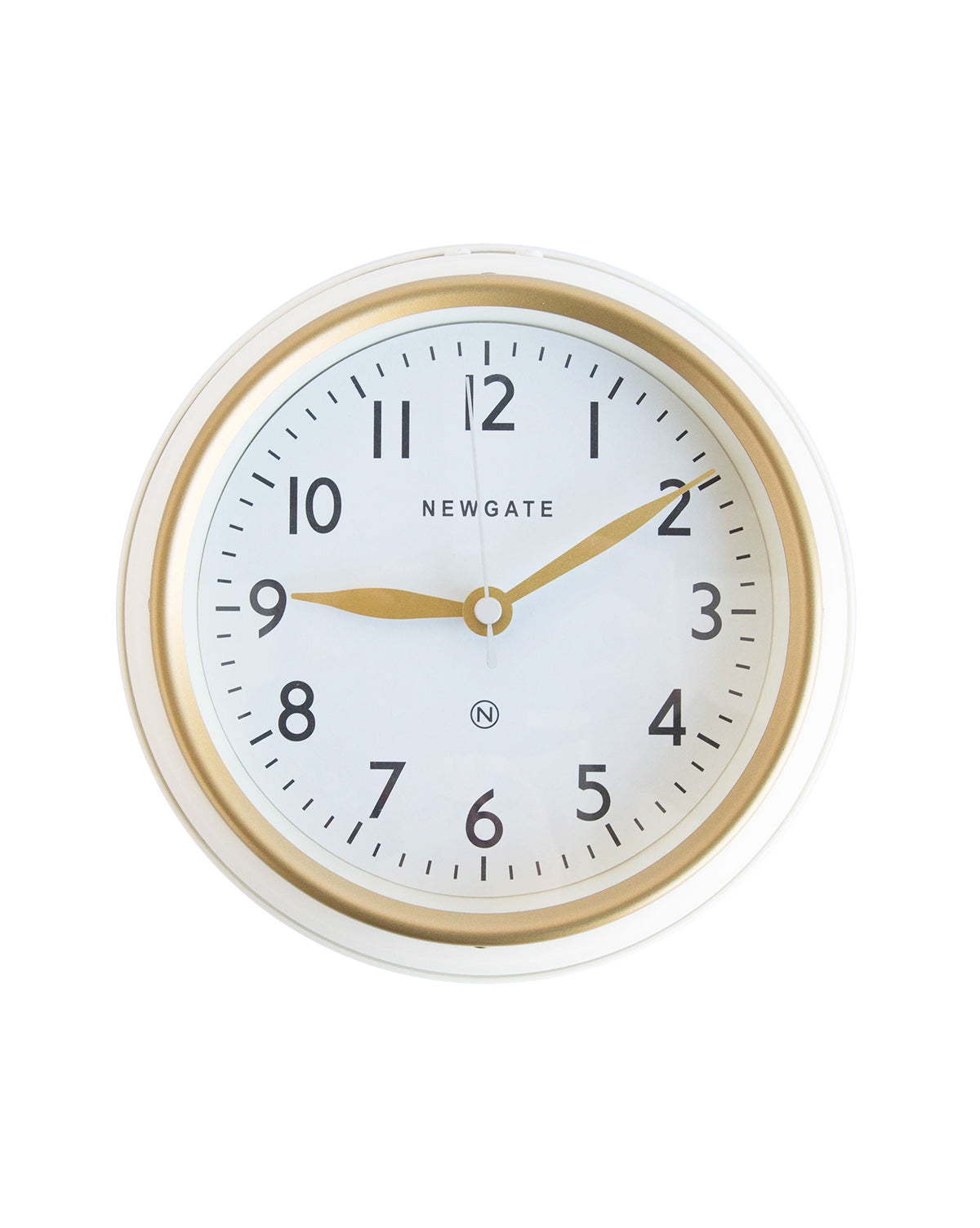 Mini Norfolk Linen White Wall Clock