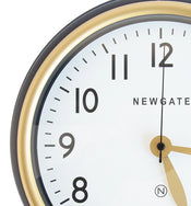 Norfolk Matte Black Wall Clock