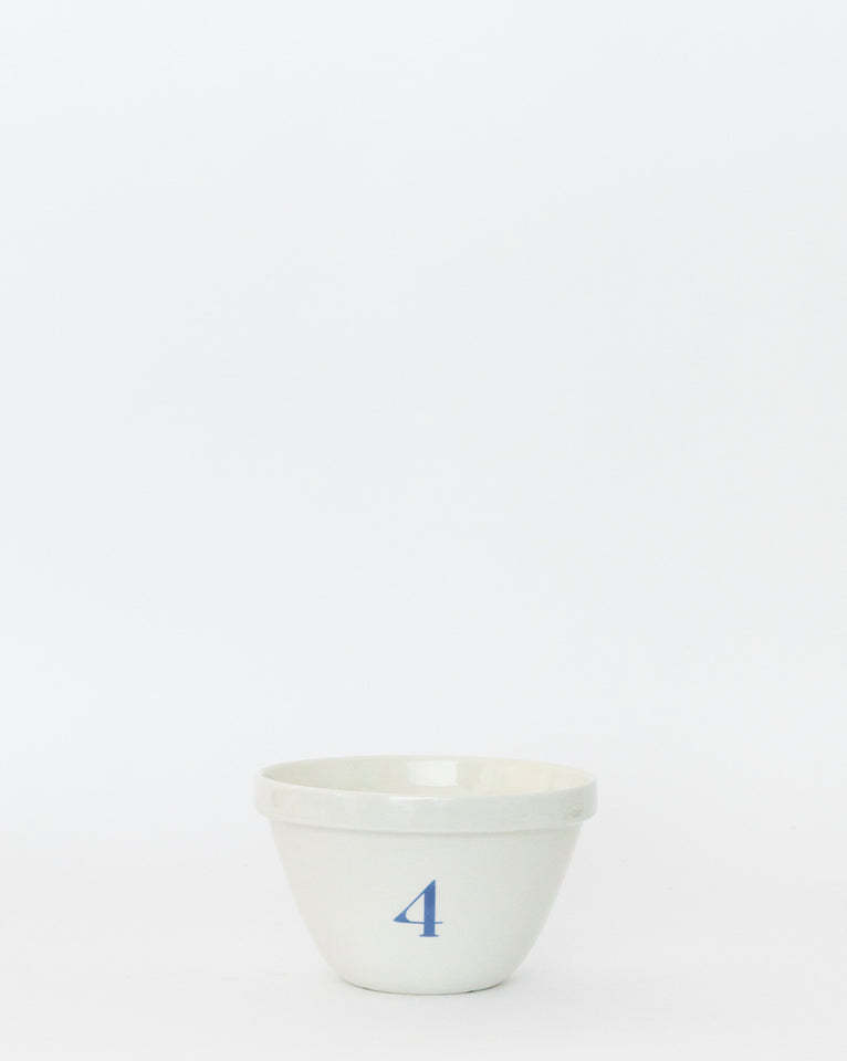 Numbered Pudding Bowl