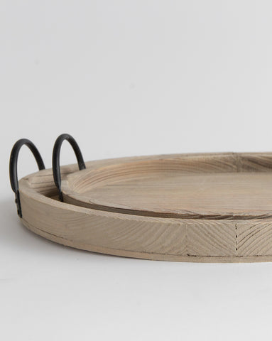 Oval Wood Trays (Set of 2)