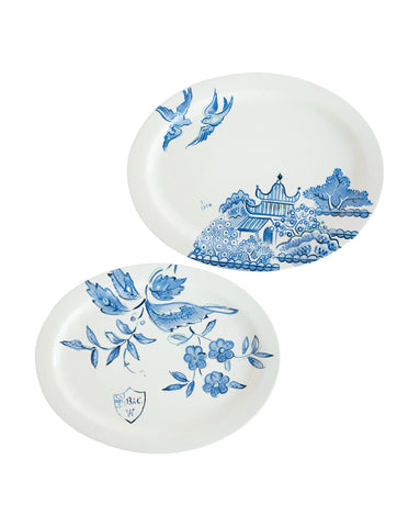 Painted Floral Platter