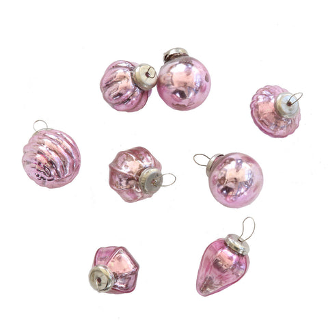 Mercury Glass Mini Ornaments (Set of 8)