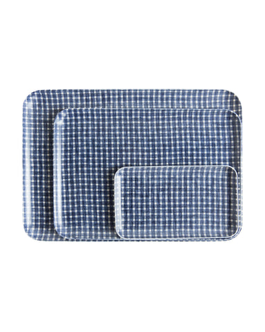 Plaid Linen Tray