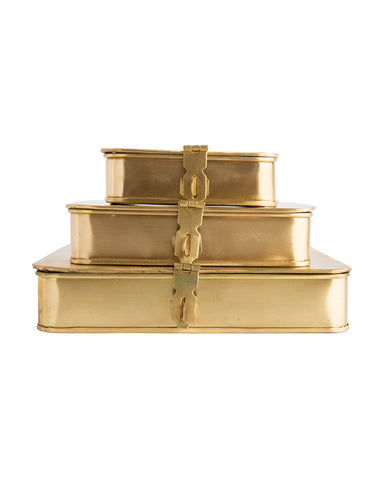Polished Brass Boxes
