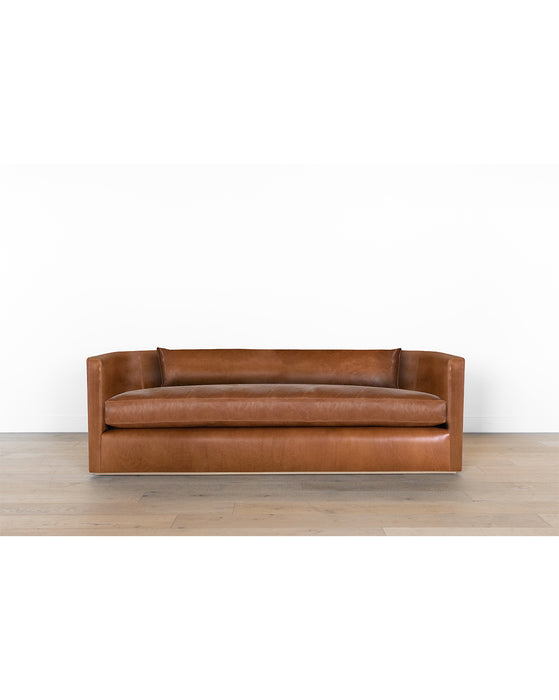 Reese Curved Leather Sofa