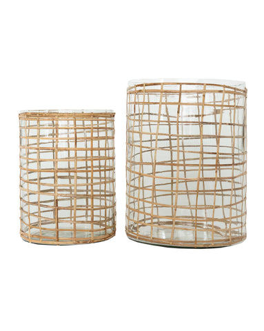 Rattan Wrapped Vase
