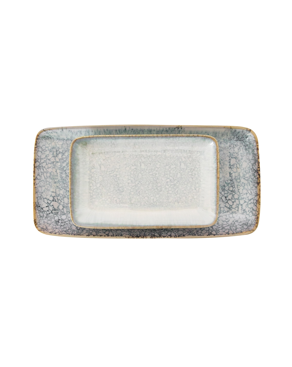 Reactive Glazed Stoneware Tray