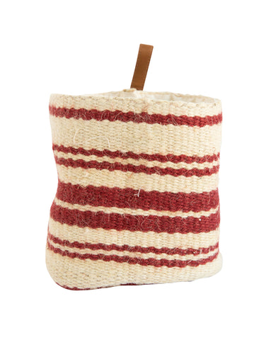 Red Striped Jute Baskets