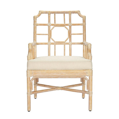 Reed Arm Dining Chair