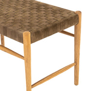 Rooney Woven Leather Bench