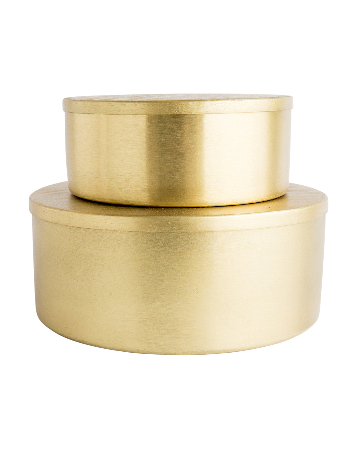 Round Stainless Steel Tins (Set of 2) – McGee & Co.