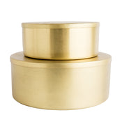 Round Stainless Steel Tins (Set of 2)
