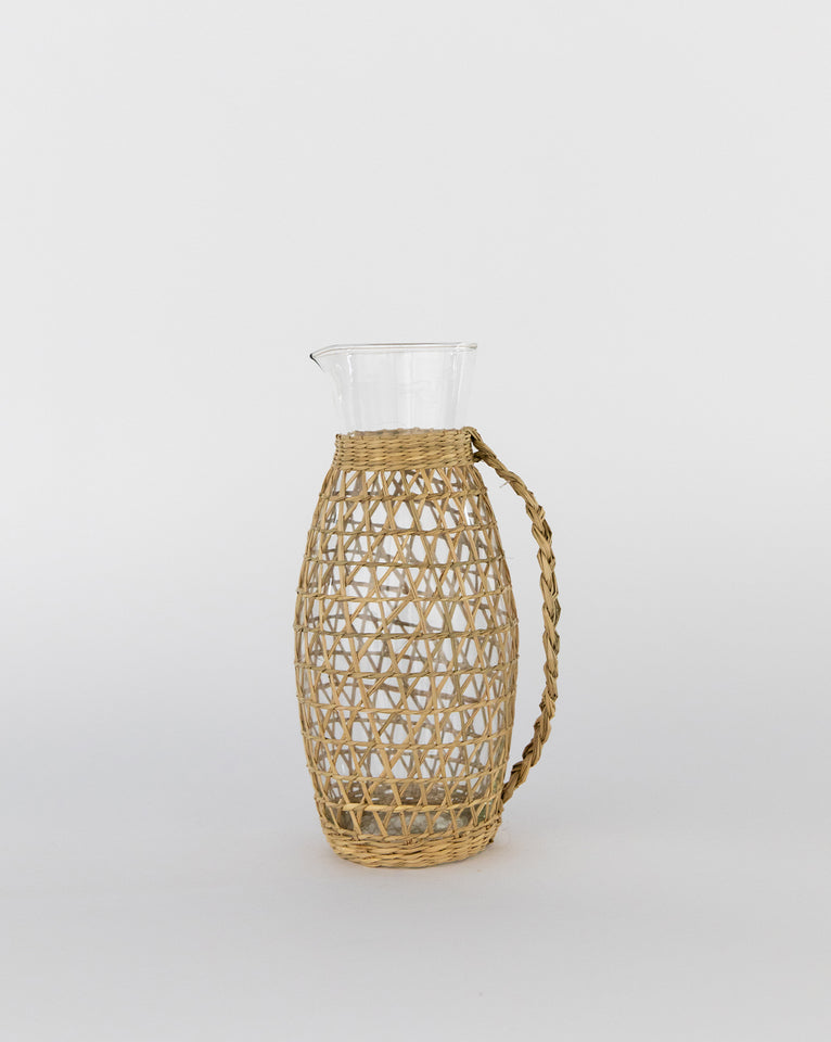 Samos Seagrass & Glass Pitcher